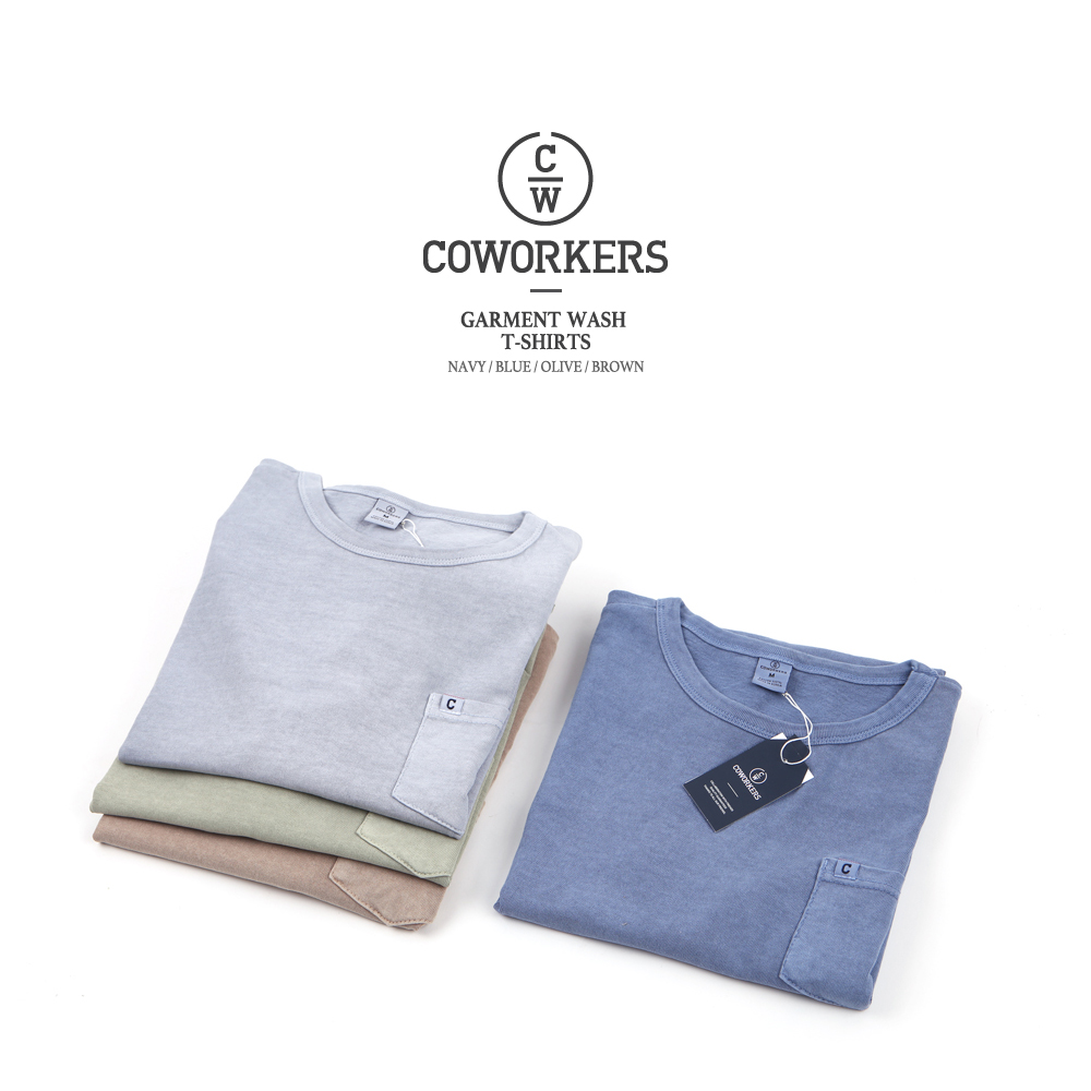 COWORKERS - Garments Wash Pocket T-Shirts