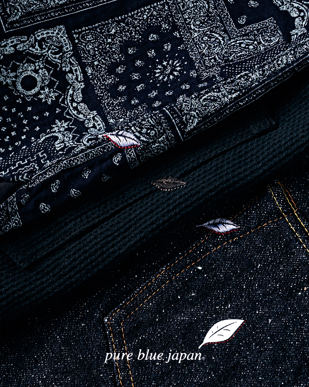 [NEW ARRIVALS] PURE BLUE JAPAN SASHIKO JACKET, BANDANA SHIRTS, SNOW DENIM